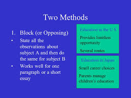 the comparison contrast essay english comparing contrasting  6 two methods 1 block