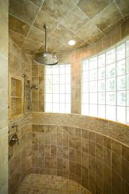 Master Bath Shower with Extensive use of Onyx beach-style-bathroom