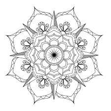 Mandala Flowers Coloring Pages Pdf Flower Mandala Coloring Page