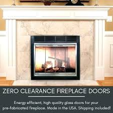 chimney glass door fireplace glass cover chimney
