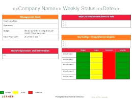 It Status Report Template Project Excel Simple Pictures