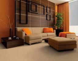 Living Room Splendid Contemporary Living Room Orange And White