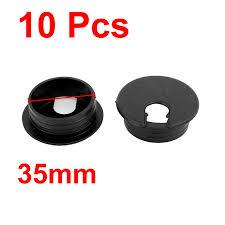 uxcell color 35mm dia computer desk table plastic grommet wire cable hole cover black 10pcs black