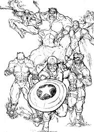 Small Picture Superheroes Coloring Pages Marvel Comics Wolverine Superhero