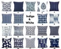 indigo throw pillows. Exellent Indigo Throw Pillow Covers Navy Blue Decorative Cushion Vintage Indigo  White Cotton Couch Bed Mix U0026 Match All Sizes In Pillows T
