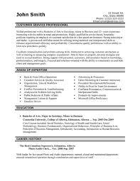 Sample Of Resume For Customer Service Representative Customer