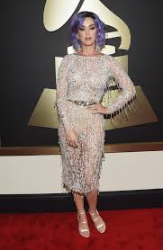 the 57th annual grammy awards red carpet recording artist katy perry