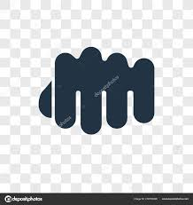 Fist Transparent Background Fist Vector Icon Isolated Transparent Background Fist
