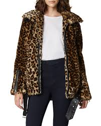 blank nycnote to self leopard print faux fur jacket