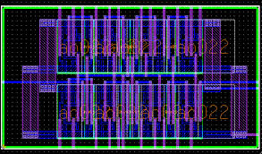 for example the following two layouts were produces using different ic blocks options ic layout designer