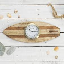 surf s up surfboard with clock or tide clock