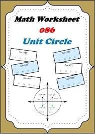 Sin Cosin Tangent Math Math Worksheet Unit Circle Sine Cos Tan