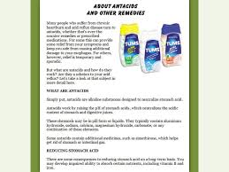 How Do Antacids Work Heartburn Help Turnkey Content Site Wow Profit Packs