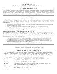 Technical Support Resume Format Customer Service Representative