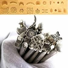 20pcs leather tools diy working saddle making set carving craft stamping punch