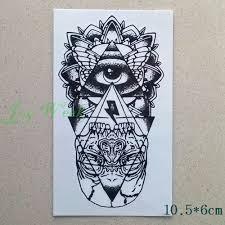 24 Design Vodotěsný Dočasné Tetování Nálepka Oko Boží Totem Mýtus