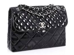 chanel business flap maxi bag handbags patent leather black ref 73652