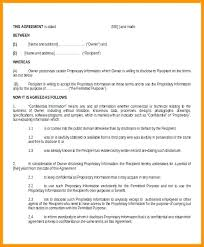 Contractor Confidentiality Agreements Delectable Confidentiality Agreement Sample Standard Non Disclosure Template