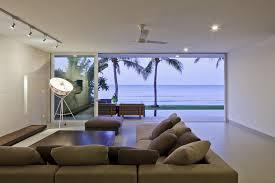 modern beach house living. Ocean View From The Living Room Modern Beach House A