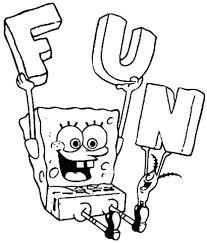 Disegno Di Spongebob E Le Lettere F U N Che Vuol Dire