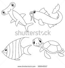 Small Picture Sea Animal Outline Stock Images Royalty Free Images Vectors