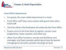Hotel Organizational Chart And Its Functions Chapter 2 Hotel Organization