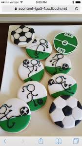 Soccer Ball Icing Decorations Soccer sugar cookie favors Soccer Sugar cookies and Party favors 74