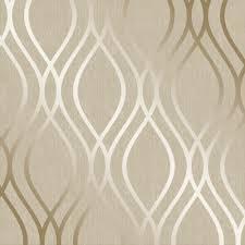 camden wave wallpaper cream gold h980530