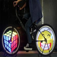 2019 diy bicycle light 128 led programmable bicycle spoke wheel led light double sided screen display image for night cycling 2017 from kimgee
