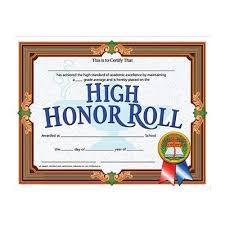 Achievement Certificate Amazon Com High Honor Roll Achievement Certificate Set Of 30
