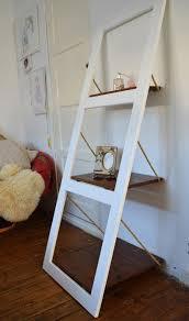 wall shelf door shelf leaning ladder