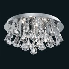 special offer searchlight 3304 4cc hanna 4 light flush ceiling crystal light