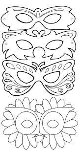 Kleurplaat 1 Sjabloon Maskers Italië Knutselen Carnaval
