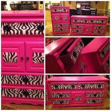 Girls Bedroom Set In HOT PINK ZEBRA