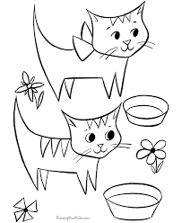 Small Picture Printable Kid Coloring Page Cats
