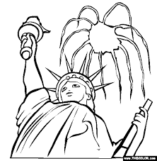 Small Picture Fourth of July Online Coloring Pages Page 1
