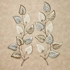 on leaf wall art set with talise leaves metal wall art set