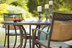 round dining room sets for 4. Carmadelia Tan And Brown Outdoor Round Dining Room Set Media Gallery 4 Sets For I