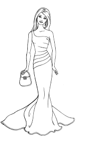 Barbie Fashion Coloring Page Printable Coloring