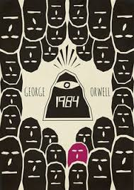 1984 by george orwell done by myself inspired by the old penguin clics and cubism really