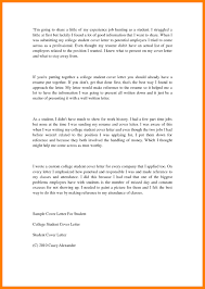 College Student Cover Letter For Resume 24 Application Letter For Working Student In College Time Table Chart 24
