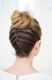 French Braid Updo Hairstyles 25 Best Ideas About French Braid Buns On Pinterest French Braid