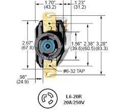 l r twist lock acirc reg ac receptacle hubbell hbl rated for a hubbell l6 20r twist lockacircreg receptacle rated for 20a 250v