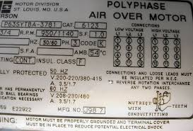dual voltage three phase motor wiring question the same wiring configuration is shown this is contrary to every other dual voltage three phase motor i ve seen is the label likely to be in error
