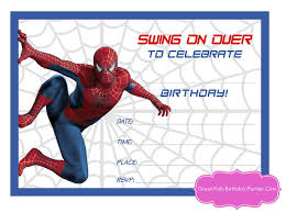 your spiderman printable here and because our superhero visitors are the best we made a blank invite for you to fill in with your own text