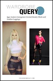 wardrobe query 103112 iggy azalea s instagram coveted society mesh and leather leggings