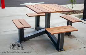 industrial style furniture. Unique Style Outdoor Modern Industrial Style Picnic Table On Furniture D