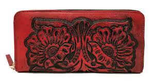 Artisan Designer Mauzari Sayulita Designer Paras Vintage Floral Artisan Handmade Leather Wallet