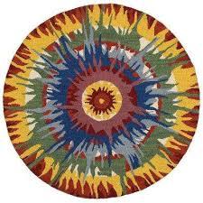 indoor round area rug