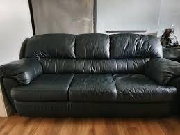 sofas black leather in barnton